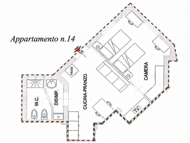 appartamento n.14 piano terra_Piantina